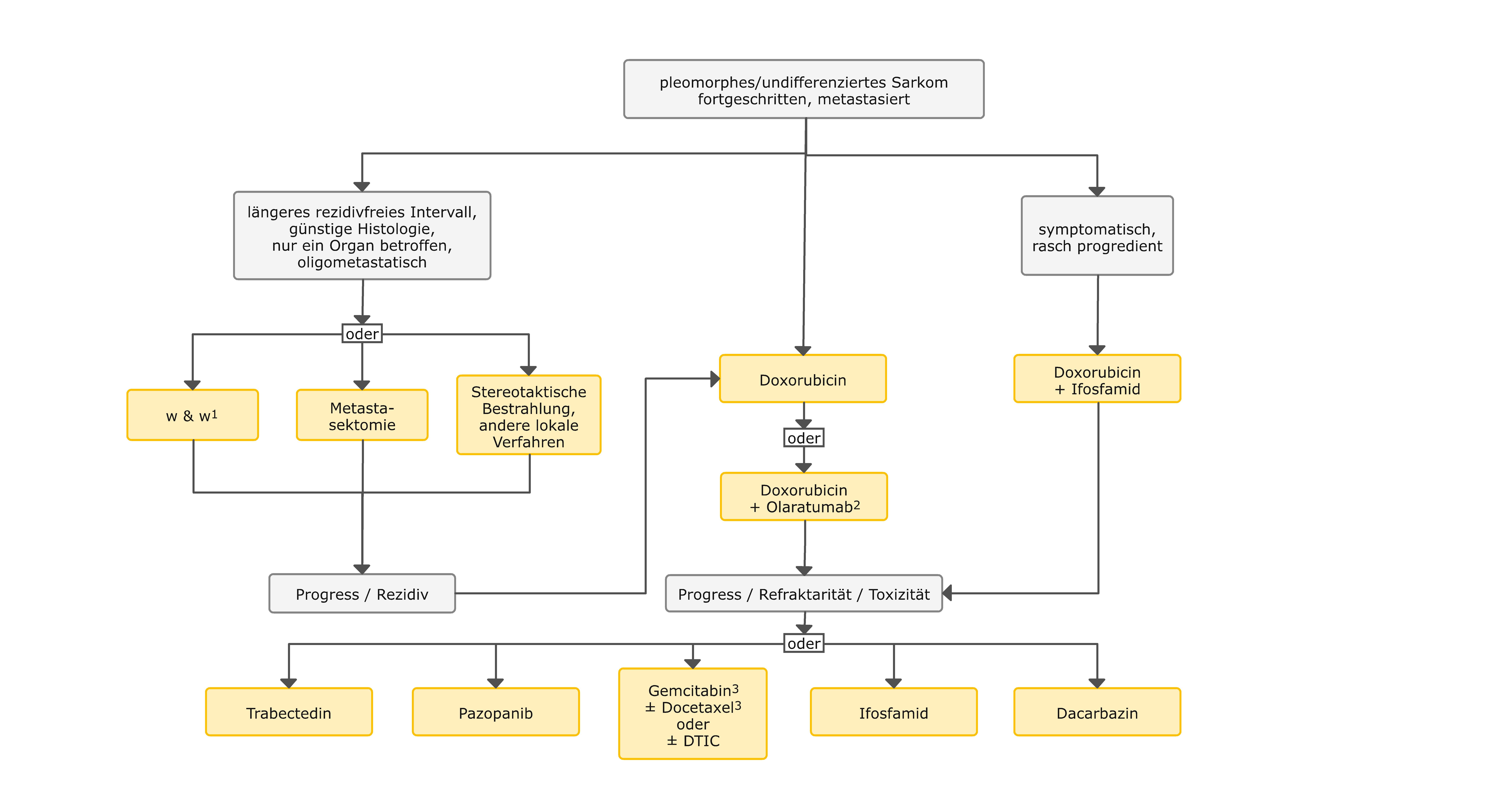 Therapiealgorithmus beim fortgeschrittenen pleomorphen / undifferenzierten Sarkom