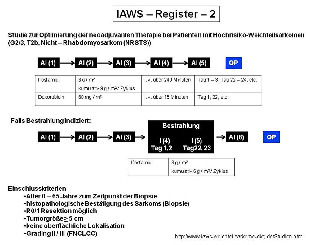 Adjuvante und neoadjuvante Chemo-/Strahlentherapiekonzepte im Kontext der IAWS-Registerprotokolle 1 und 2