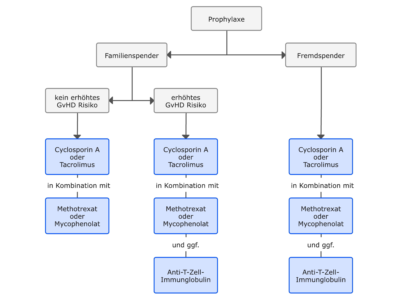 Orientierender Algorithmus zur GvHD Prophylaxe
